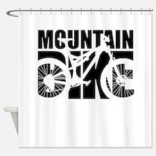Mountain Bike Shower Curtain