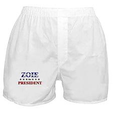 ZOIE for president Boxer Shorts
