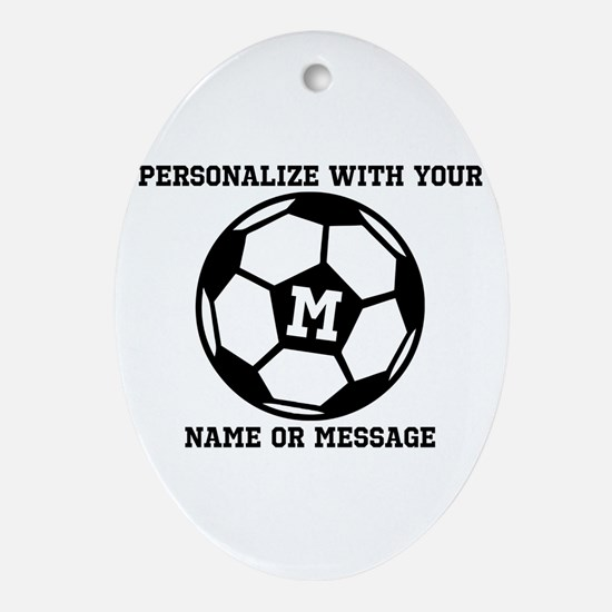 PERSONALIZED Soccer Ball Oval Ornament