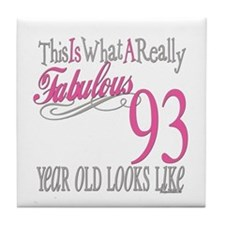 93rd Birthday Gifts Tile Coaster