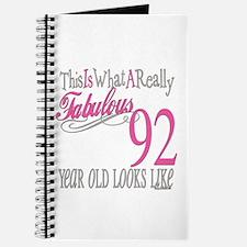 92nd Birthday Gifts Journal
