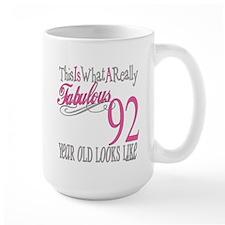 92nd Birthday Gifts Ceramic Mugs