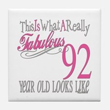 92nd Birthday Gifts Tile Coaster
