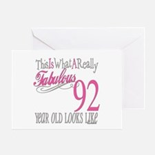 92nd Birthday Gifts Greeting Card