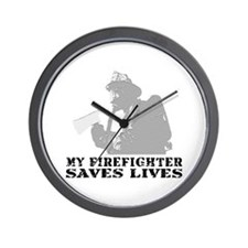 Firefighter Saves Lives Wall Clock