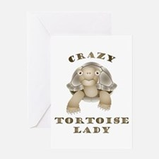 Crazy Tortoise Lady Greeting Cards