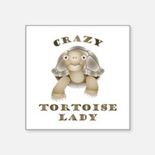Crazy Tortoise Lady Sticker