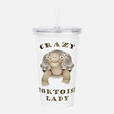 Crazy Tortoise Lady Acrylic Double-Wall Tumbler