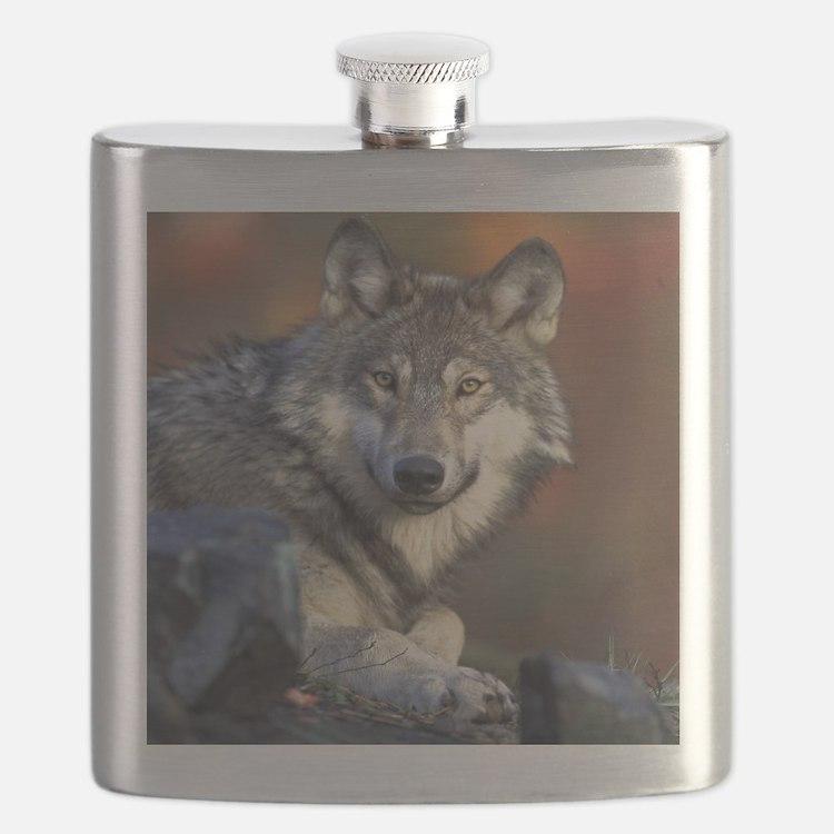 Cute Wolf girl Flask