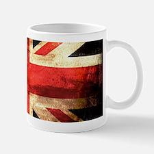 British UK Flag Grunge Vintage Mugs