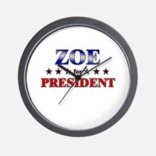 ZOE for president Wall Clock