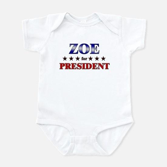 ZOE for president Infant Bodysuit