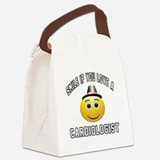 Smile If You Love Cardiologist Canvas Lunch Bag