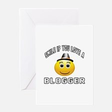 Smile If You Love Blogger Greeting Card