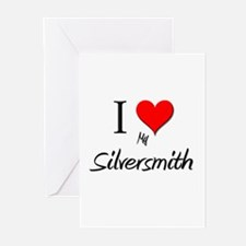 I Love My Silversmith Greeting Cards (Pk of 10)
