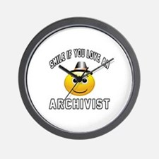 Smile If You Love Archivist Wall Clock