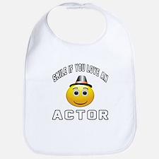 Smile If You Love Actor Bib