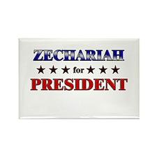 ZECHARIAH for president Rectangle Magnet