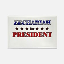 ZECHARIAH for president Rectangle Magnet