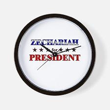 ZECHARIAH for president Wall Clock