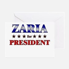 ZARIA for president Greeting Card