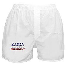 ZARIA for president Boxer Shorts