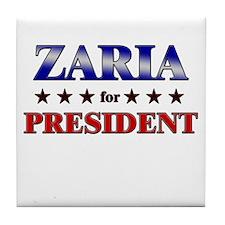 ZARIA for president Tile Coaster