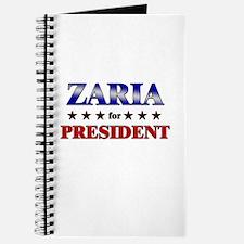 ZARIA for president Journal