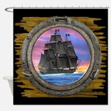 Black Sails of the 7 Seas Shower Curtain