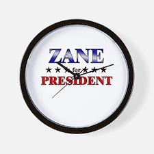 ZANE for president Wall Clock