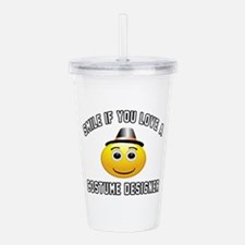 Smile If You Love Cost Acrylic Double-wall Tumbler