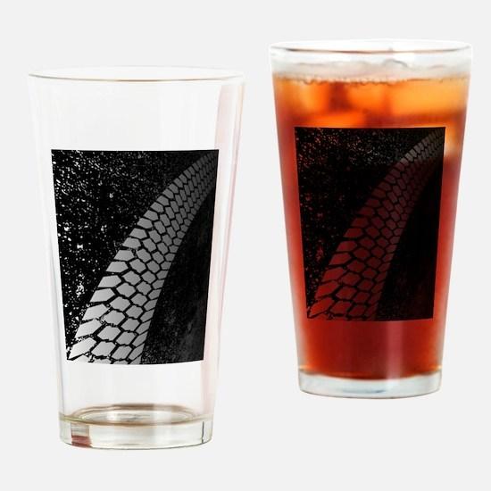 Grunge Skid Mark Drinking Glass
