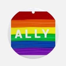 Cool Gay rights Round Ornament