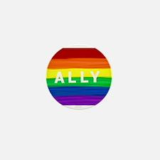 Ally gay rainbow art Mini Button (10 pack)