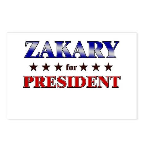 ZAKARY for president Postcards (Package of 8)