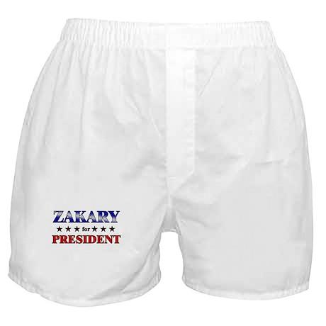 ZAKARY for president Boxer Shorts
