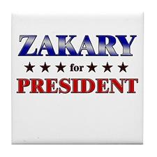 ZAKARY for president Tile Coaster