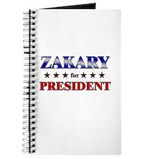 ZAKARY for president Journal