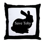 Save Toby Throw Pillow