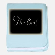 The End baby blanket