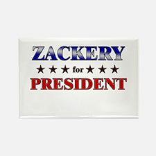 ZACKERY for president Rectangle Magnet