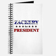 ZACKERY for president Journal