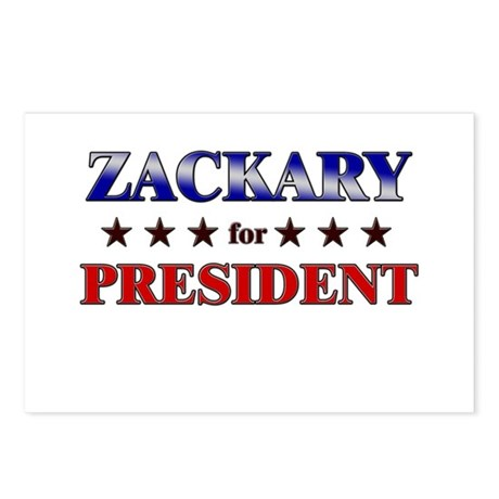 ZACKARY for president Postcards (Package of 8)