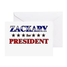 ZACKARY for president Greeting Card