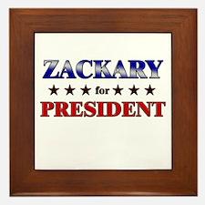 ZACKARY for president Framed Tile