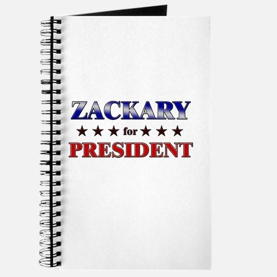 ZACKARY for president Journal