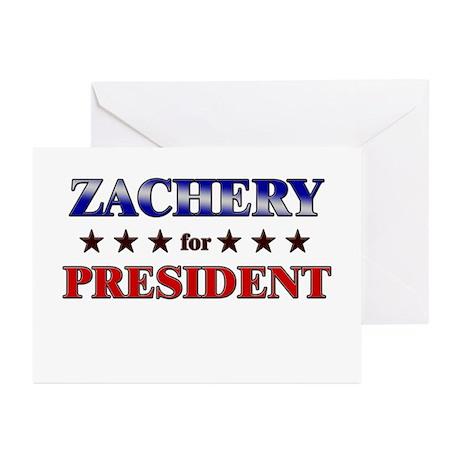 ZACHERY for president Greeting Cards (Pk of 10)