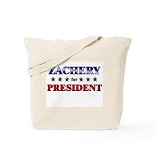 ZACHERY for president Tote Bag