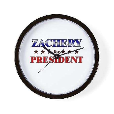 ZACHERY for president Wall Clock