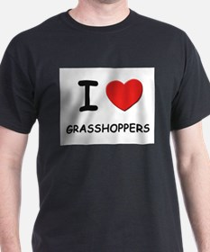 I love grasshoppers Ash Grey T-Shirt